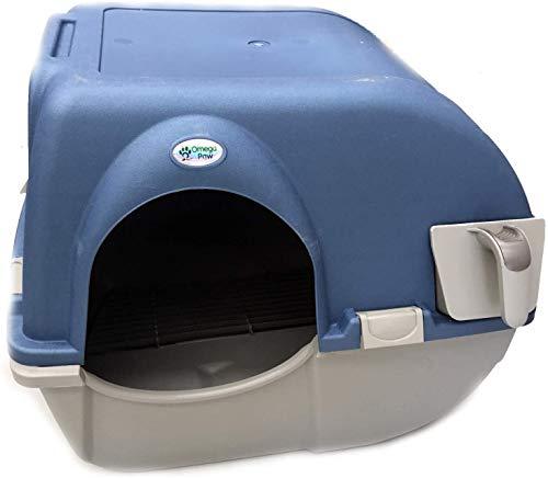 Omega Paw Roll n' Clean Katzentoilette Katzenklo selbstreinigend Regular, Farbe:Blau