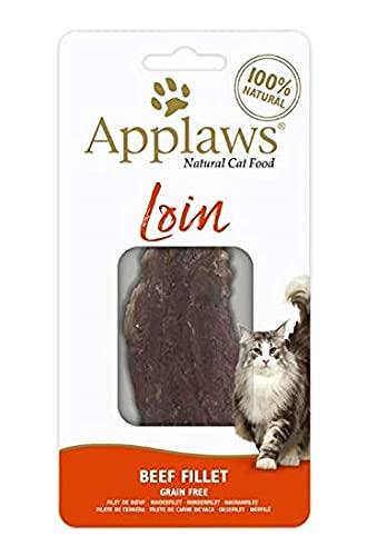 Applaws Katzenfutter, Nassfutter, Beutel-Leckerlis, Rindfleisch-Lecke, 20 g (12 Stück)