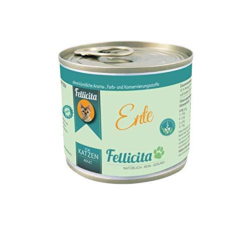Fellicita Katzenfutter Ente pur 6 x 200g