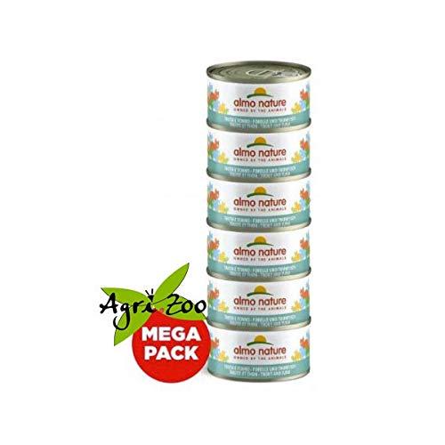 almo nature Cats Mega Katzenfutter nass Thunfisch Mit Jungsardellen (6 Dosen x 70 g), 420 g