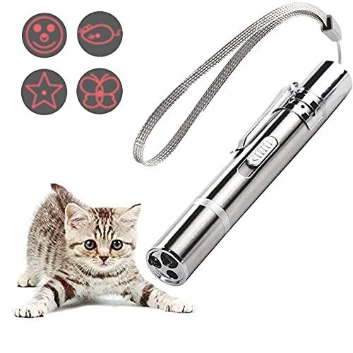 PUTEKCO Chaser Spielzeug Katze Hund, Upgrade USB Wiederaufladbares Multimode Interaktives Katzenspielzeug, LED Light Licht Spielzeug für Haustiere Trainingsgerät