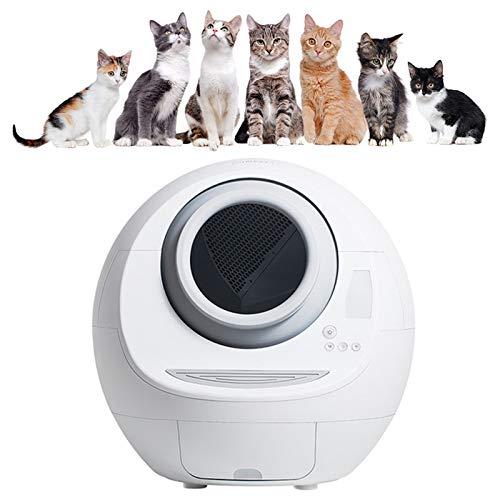 WDSZXH Automatische Selbstreinigende Elektrische Katzentoilette mit Deodorant Vollständig Geschlossener Reiniger Smart Cat Toilette für Katzengewicht Und Reinigung