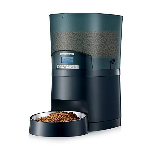 honeyguaridan A68 Futterautomat Hunde, 7L Automatischer Futterspender für Katzen und Hunde mit Edelstahl Futternapf, Portionskontrolle, programmierbarer Timer für bis zu 6 Mahlzeiten pro Tag
