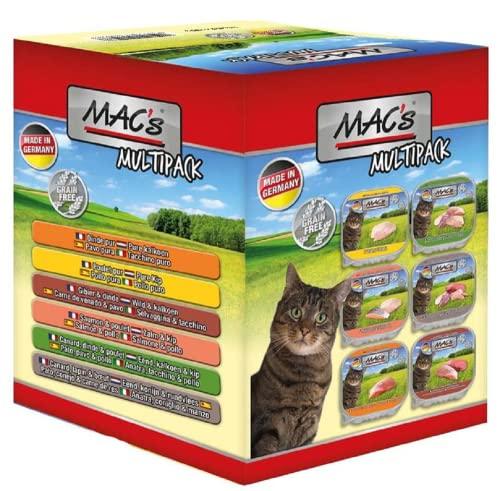 Mac's Cat │ Multipack - 6 x 85g - 6 Verschiedene Sorten │Katzenfutter nass Schale