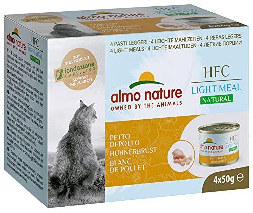 almo nature HFC Natural Light Meal Katzenfutter für ausgewachsene Katzen - Hühnerbrust 50 g x 4 stück, 200 g