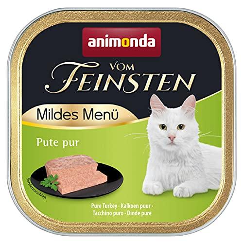 animonda Vom Feinsten Adult Katzenfutter, Nassfutter für ausgewachsene Katzen, mildes Menü, Pute Pur, 100 g