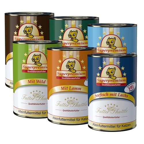 Sparpaket Katzenfutter Nassfutter. 72 Dosen x 400g gemischtes Nassfutter für Katzen in Spitzenqualität